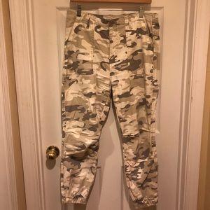 Jogger style camo pants